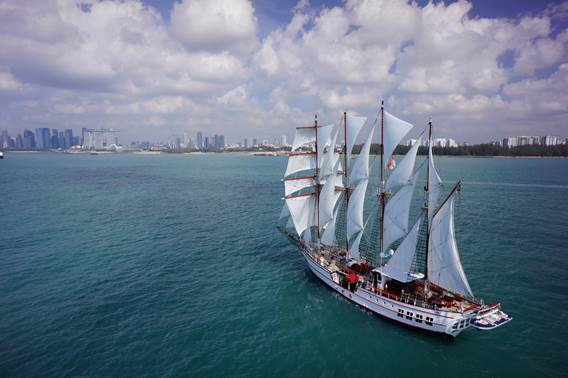 Cruise on the Royal Albatross, Asia's only luxury tall ship